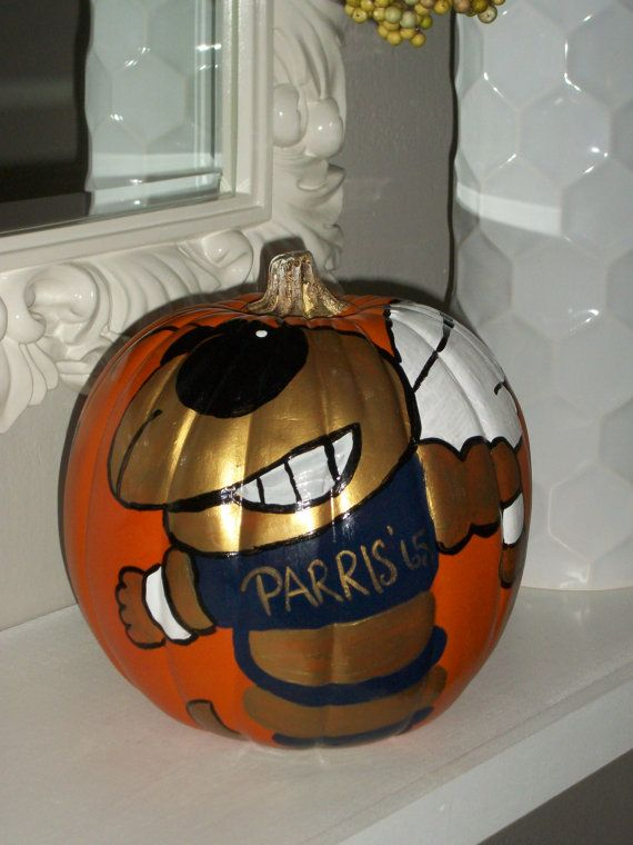 Georgia Tech 8 Inch Plastic Pumpkin Hand Painted by ...