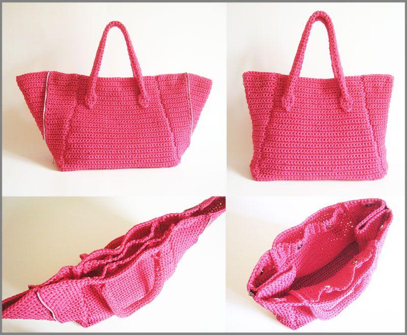 zipper sides bag pattern patr n para un bolso con cierres laterales ya pinterest crochet. Black Bedroom Furniture Sets. Home Design Ideas