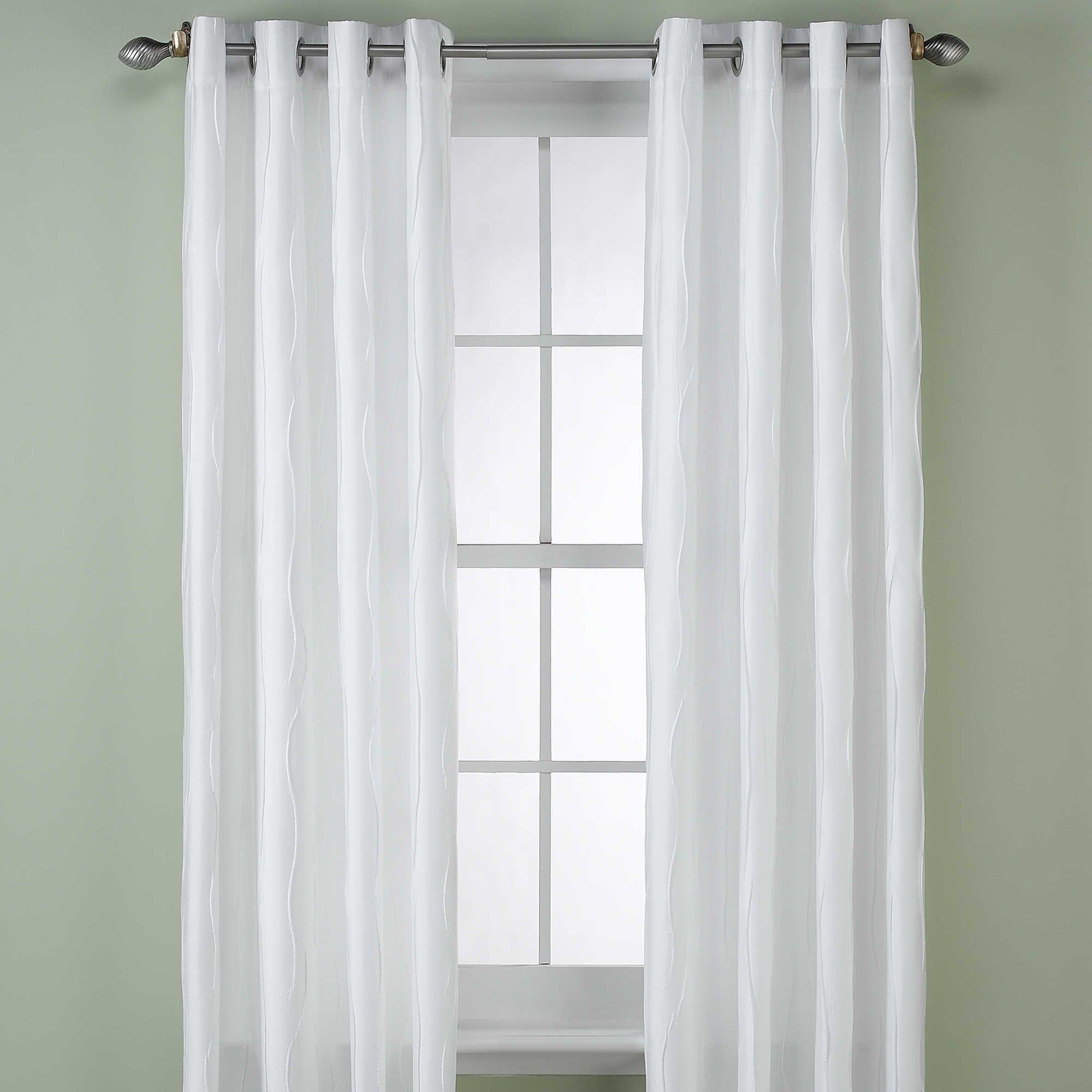 Venice Panel 132 Inch Khaki Panel Curtains White Paneling