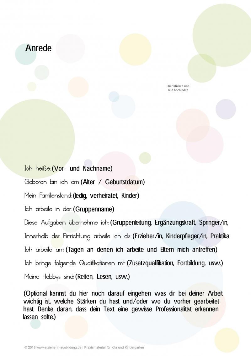 Der Kreative Steckbrief Fur Erzieher Im Kindergarten Vorlagen Und Muster In 2020 Steckbrief Erzieherin Steckbrief Erzieherin