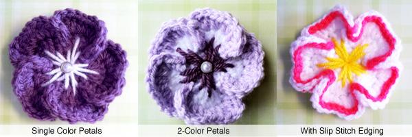 5 Petal Tropical Flower Crochet Pattern Free Pattern Leaves And