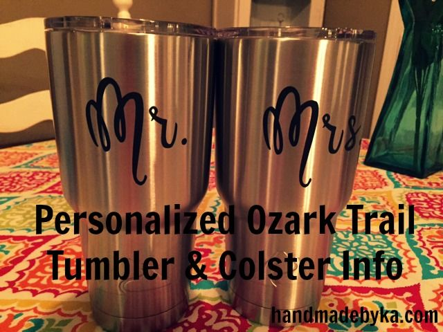 37069da2907 Personalized Ozark Trail Tumbler and Colster Info | Best Of Handmade ...