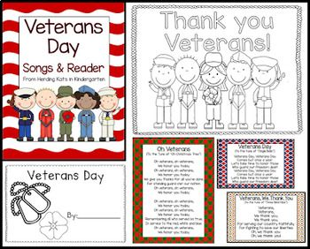 Veterans Day Songs & Reader