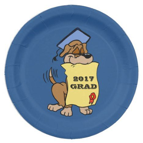2017 Graduations Cute Puppy Dog Diploma Paper Plate  sc 1 st  Pinterest & 2017 Graduations Cute Puppy Dog Diploma Paper Plate | Graduation Dog ...