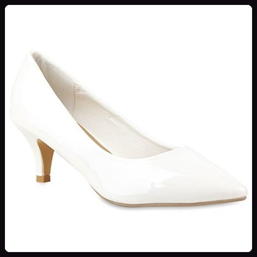 Damen Spitze Pumps High Heels Lack Glitzer Kitten Heels Party Stilettos  Elegante Abend Fransen Schuhe 114967 86e4ac2777