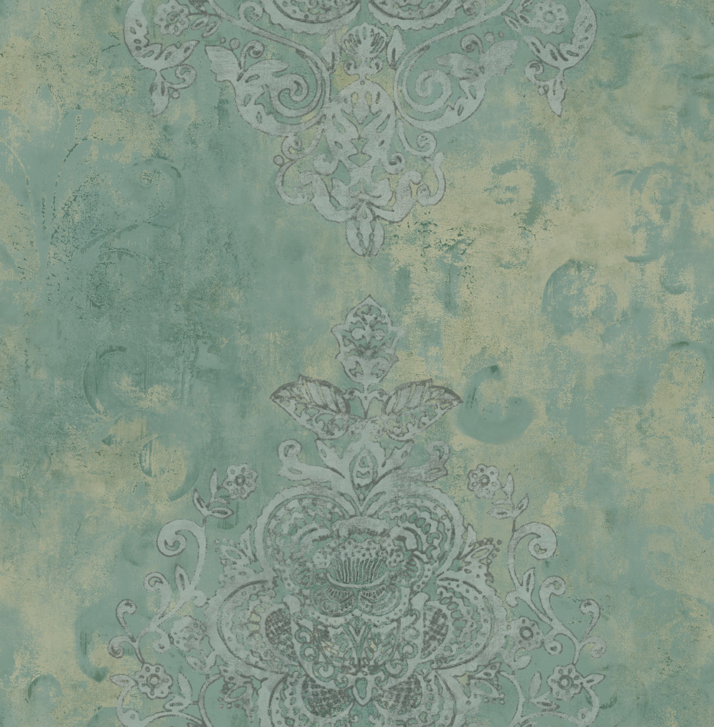 Wall painting effects - Didi S Damask Faux Effect Painted Wallpaper Fax 38949 Faux Effects Wall Paper