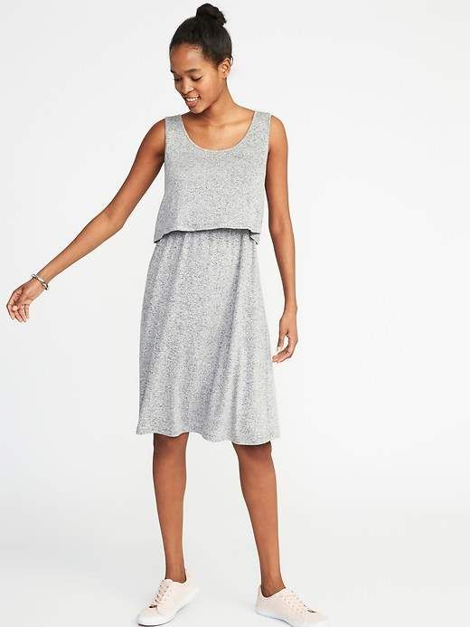 15f61641bea Old Navy Maternity Plush-Knit Double-Layer Nursing Dress | Products ...