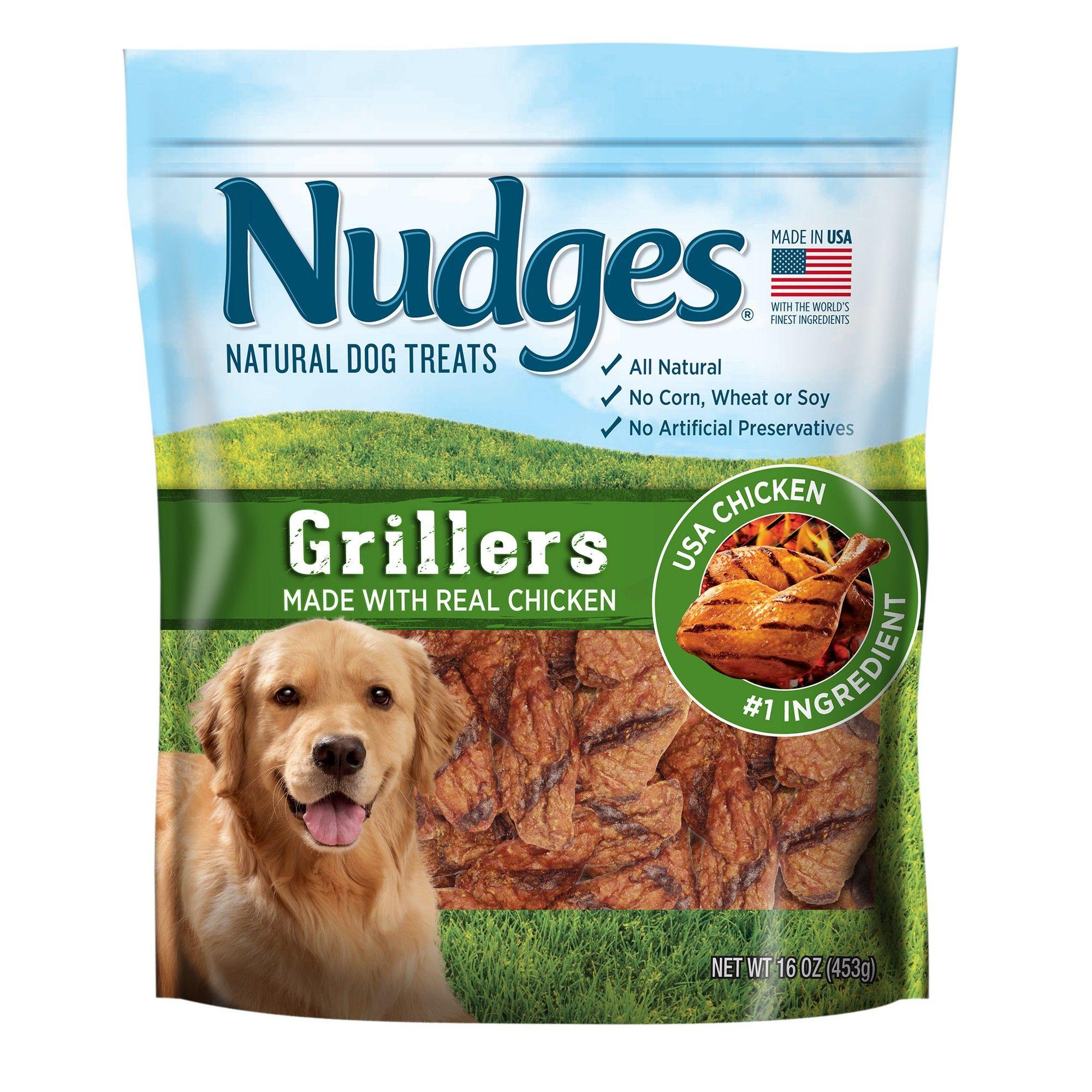 Nudges Natural Dog Treats Chicken Grillers 16oz Natural Dog