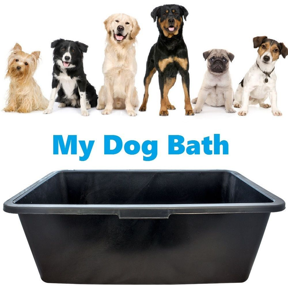 Black Deep Plastic Water Dog Animal Bath Tub Grooming Cleaning