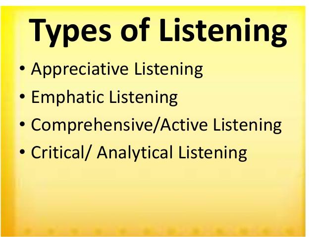 Types Of Listening Types Of Listening Critical Thinking Skills Active Listening