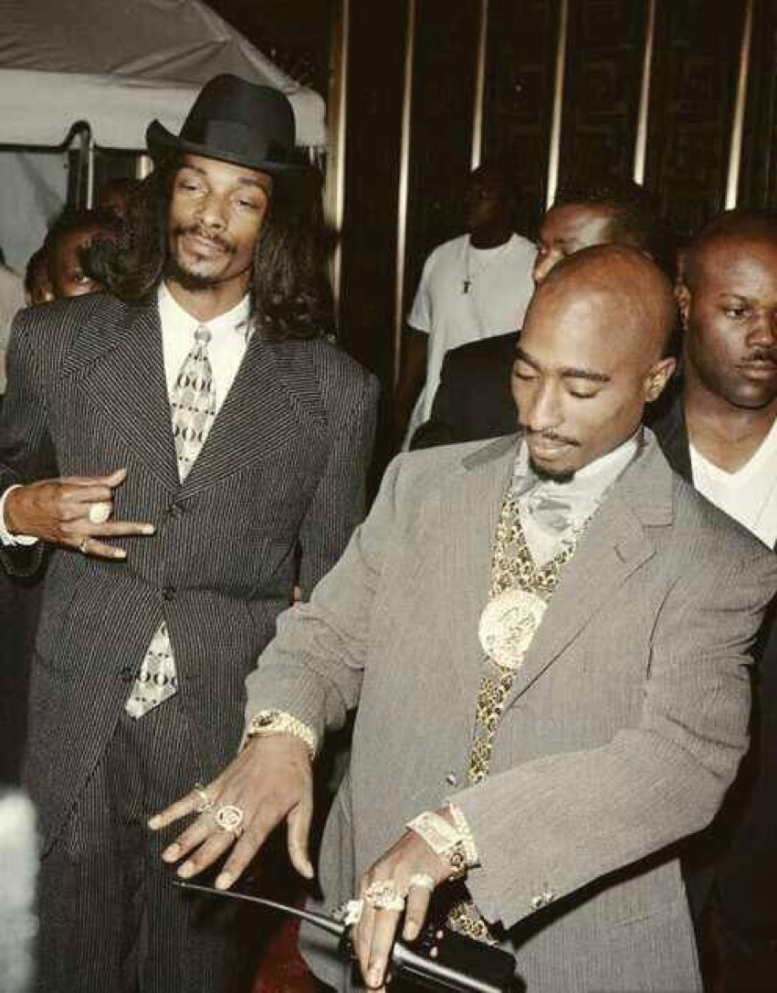 Snoop & 2Pac  This pic was taken not too long before Pac died
