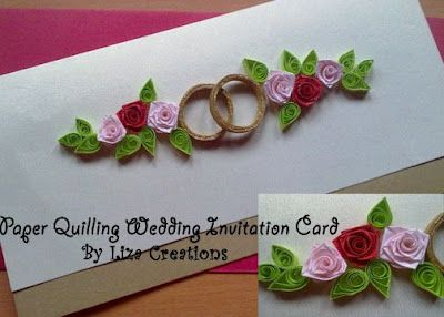 A Wedding Invitation Card By Using Paper Quilling Cards Wedding