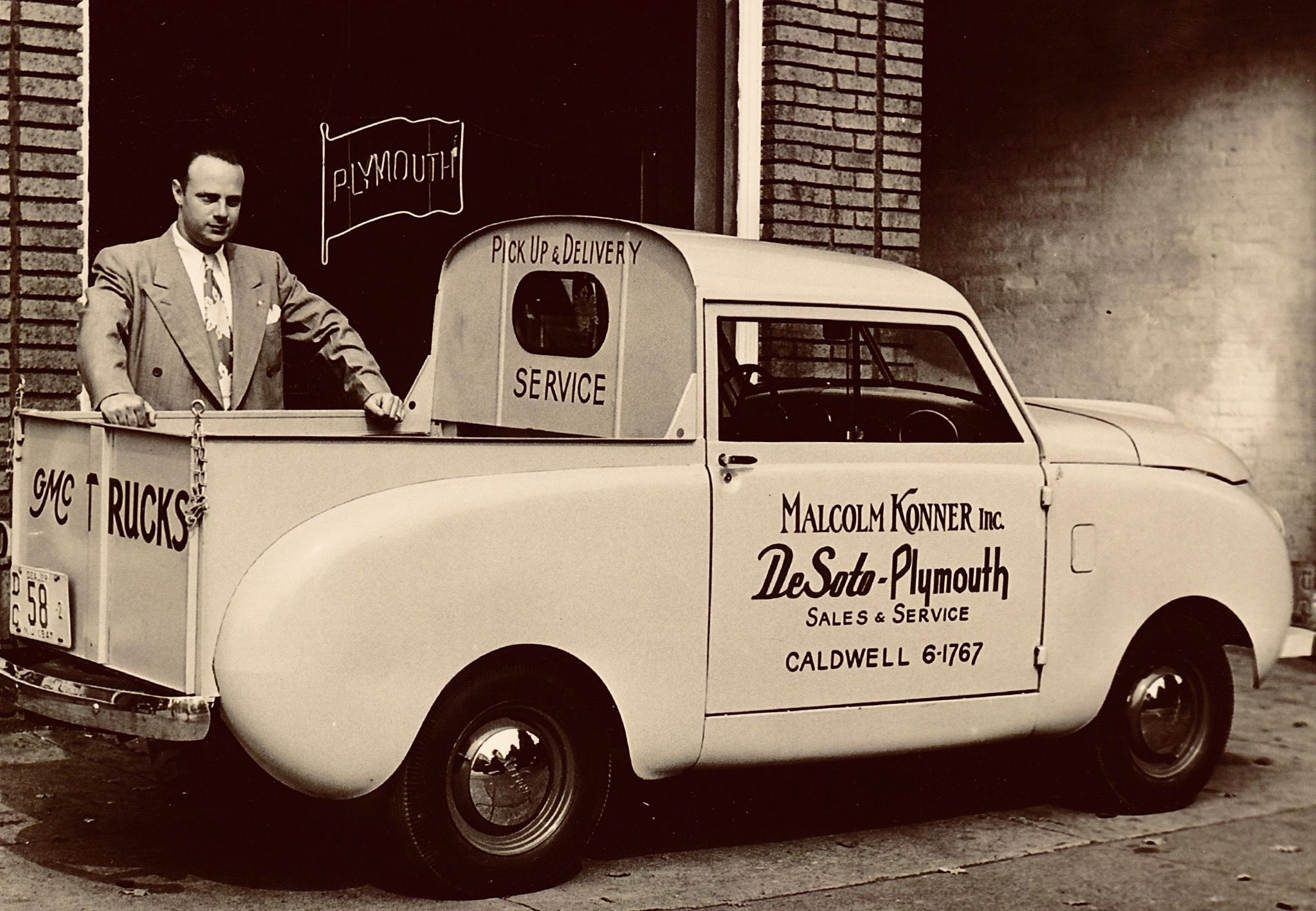 Malcolm Konner Standing With His Parts Delivery Crosley Pickup