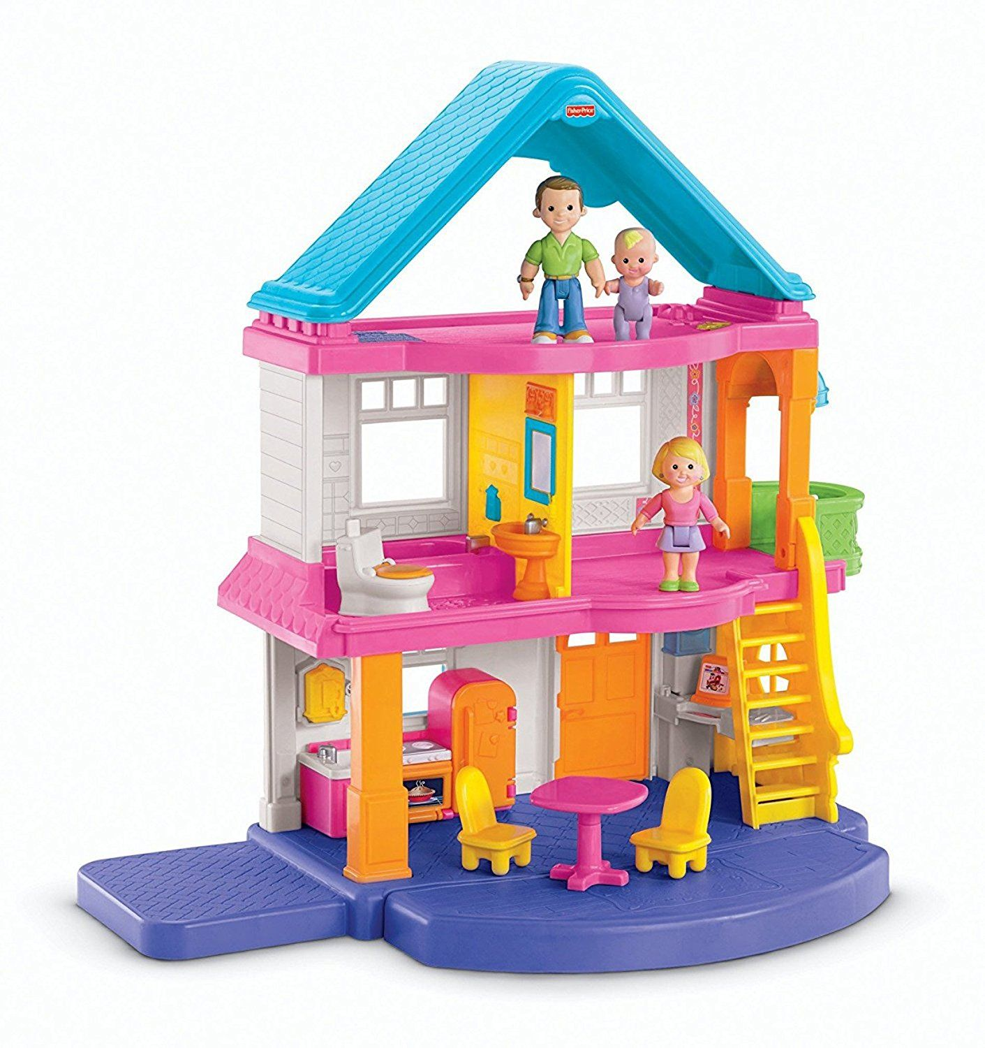 Amazon Fisher Price My First Dollhouse Playset Toys & Games