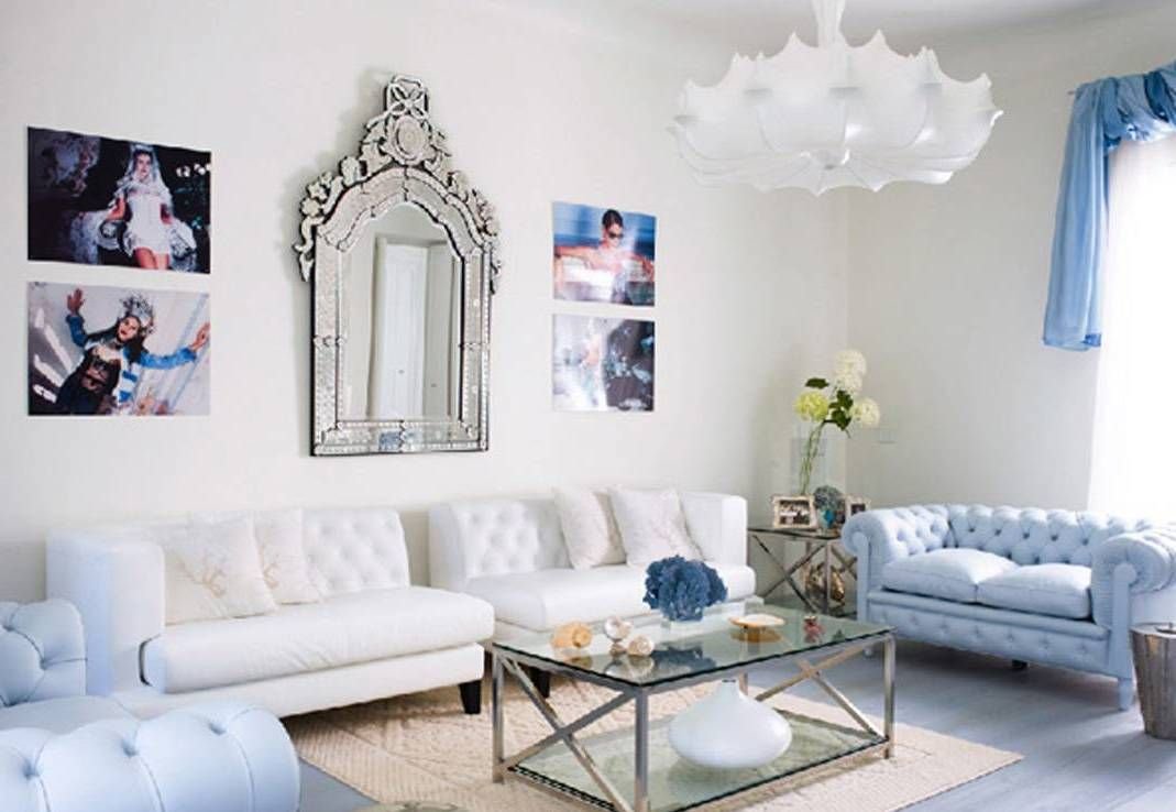 beautiful blue and silver living room designs ideas - http://www