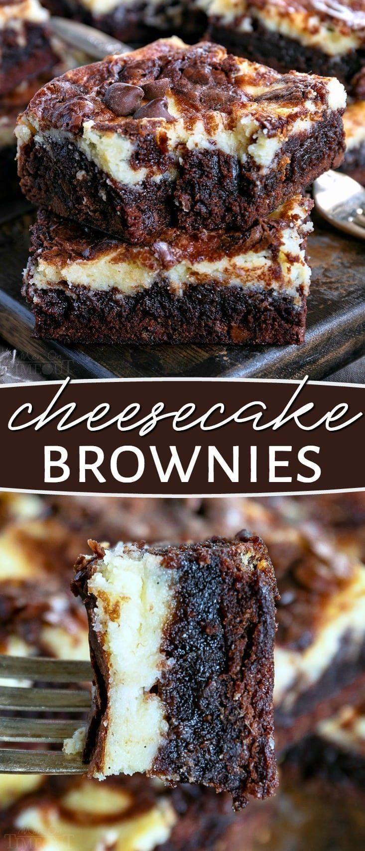 Diese Cheesecake Brownies sind eine köstliche Kombination aus zwei ... - - Desserts -