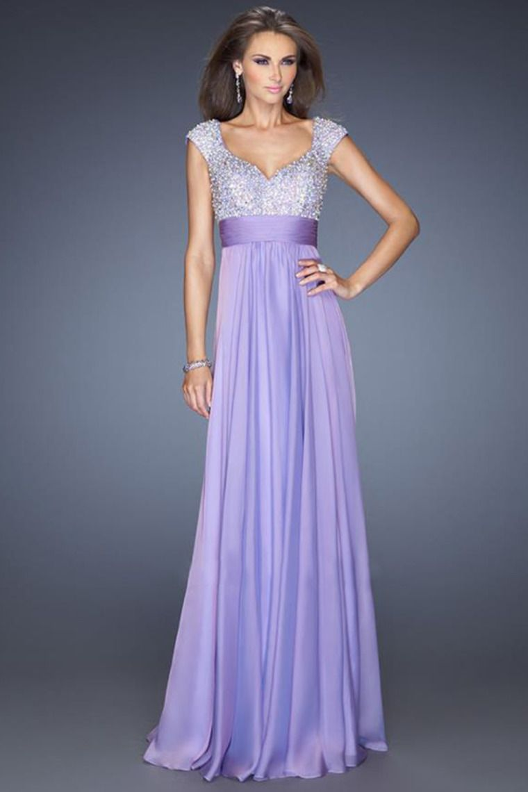 2014 Exquisite Straps A Line/Princess Floor Length Chiffon Prom ...