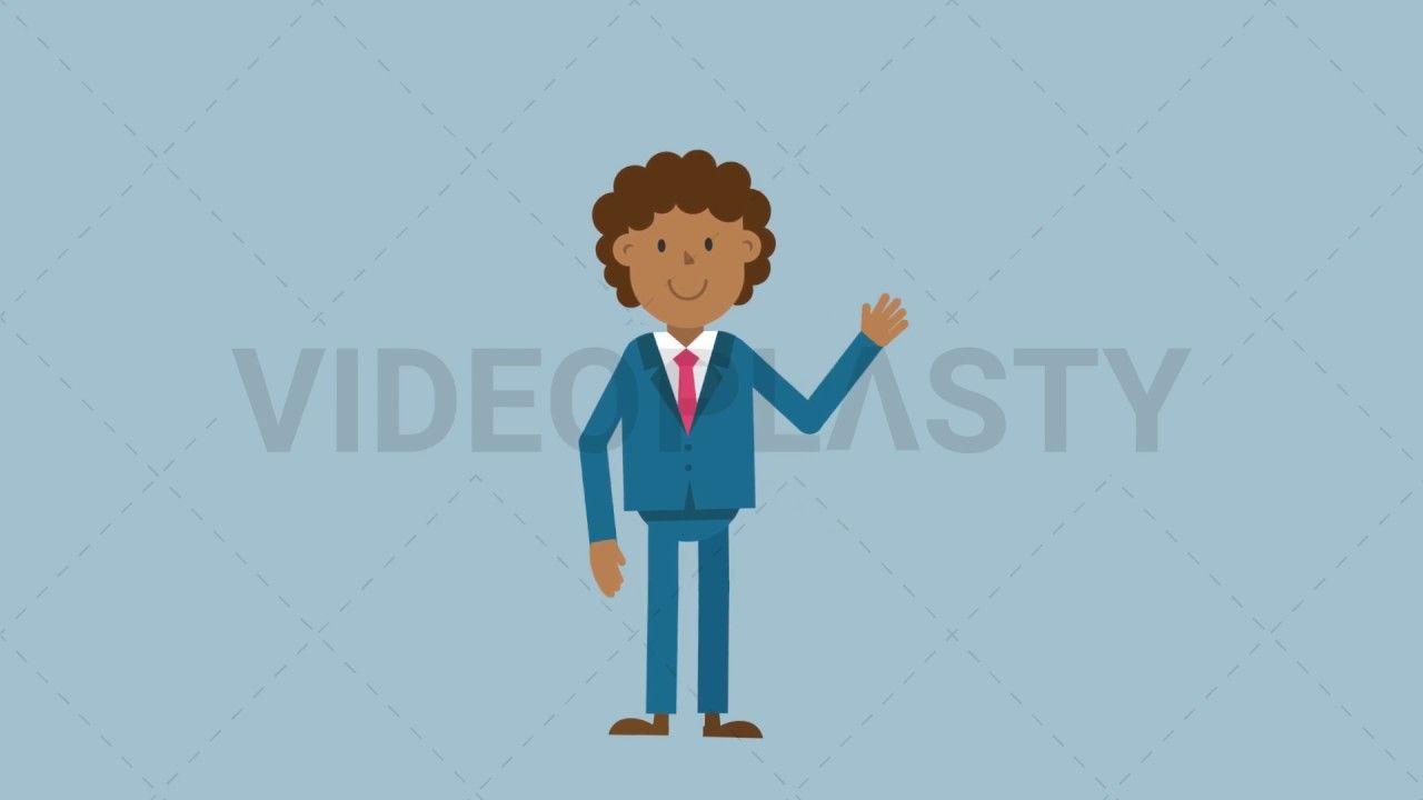 Black Corporate Man Waving His Hand Mov Gif Money Animation