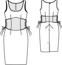 burda 6/2015  dress sewing tutorials dress illustration