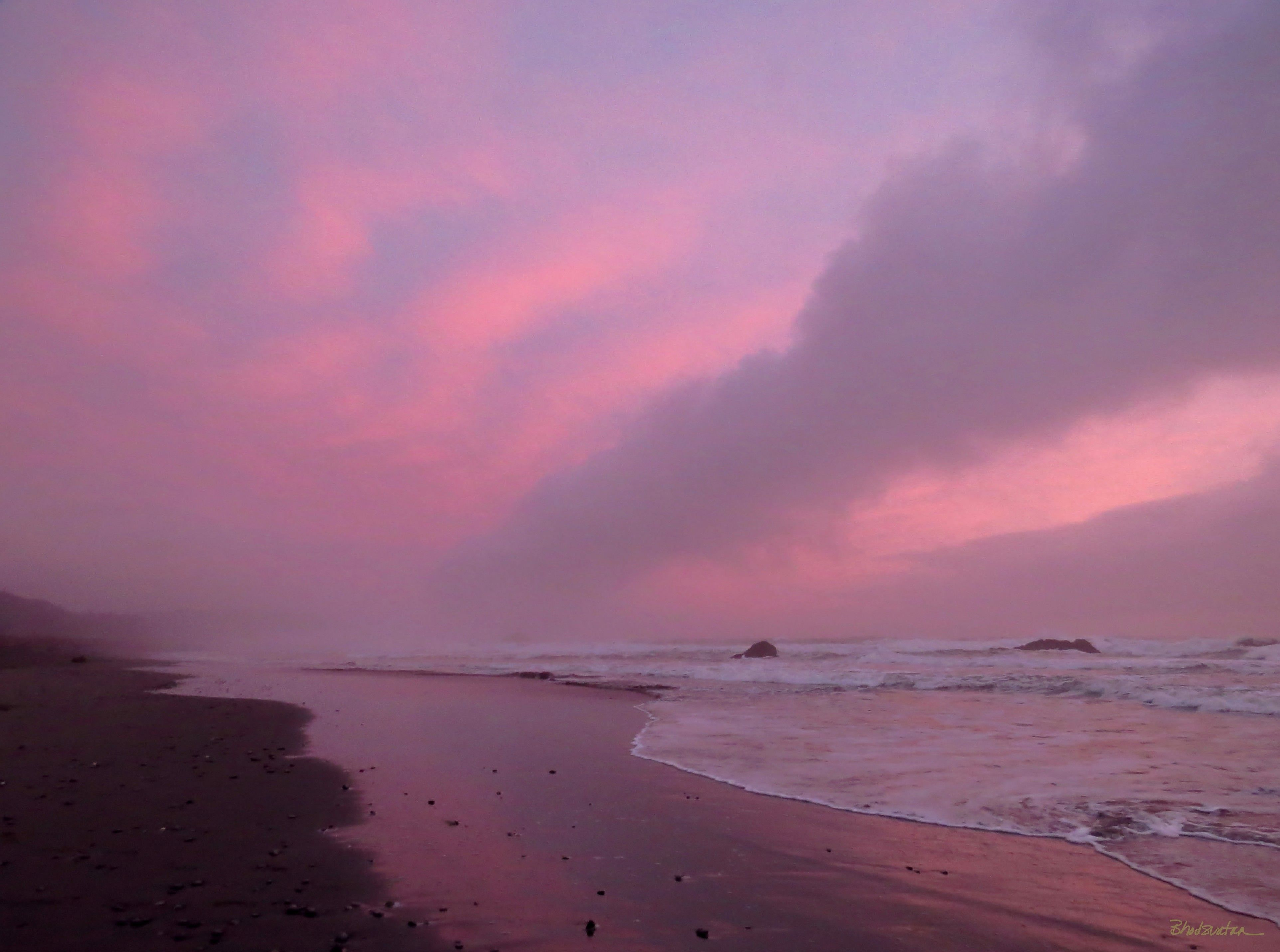 Bailey Beach Gold Oregon Sunset Southern Coast Coos