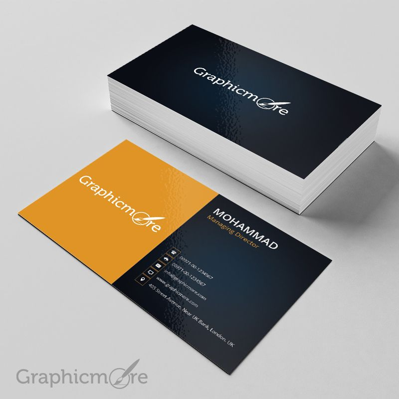 Black Yellow Business Card Template Mockup Design Free Psd File Black Business Bu Yellow Business Card Business Card Template Cleaning Business Cards
