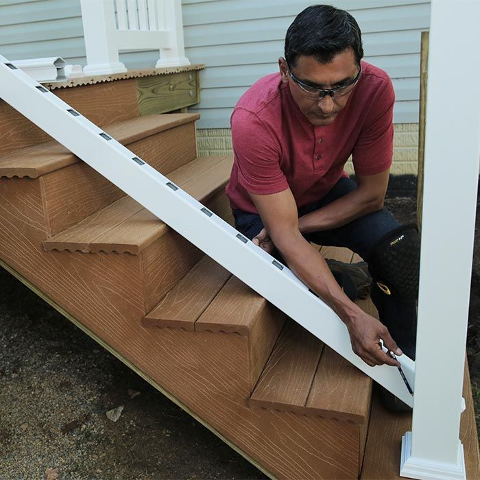 Best How To Build A Deck Composite Stairs And Stair Railings 400 x 300