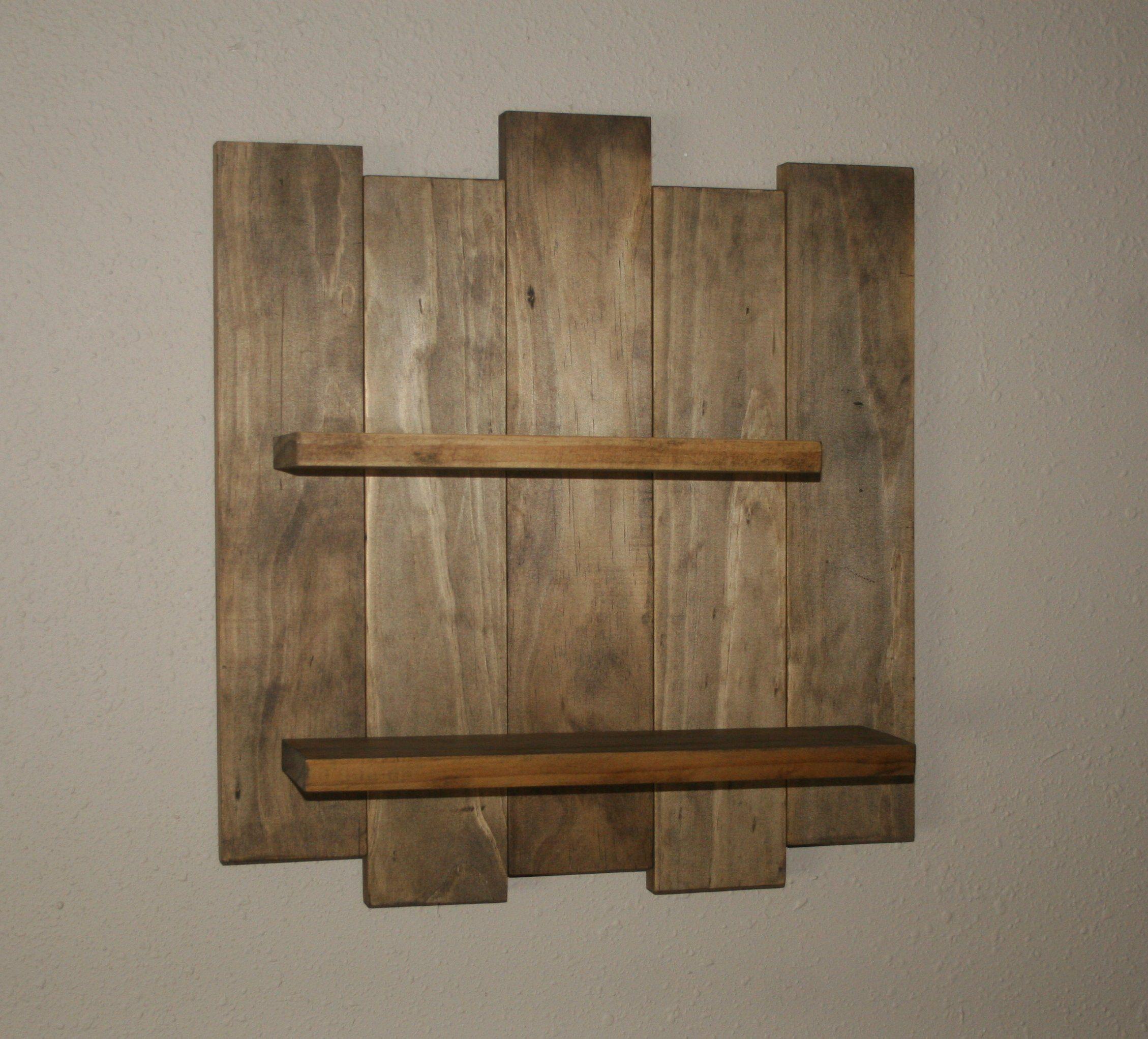 Rustic Wood Wall Shelf Reclaimed Wood Shelf Distressed Pallet Wood Primitive Home Decor Western Oa Rustic Wood Walls Reclaimed Wood Shelves Wood Pallets