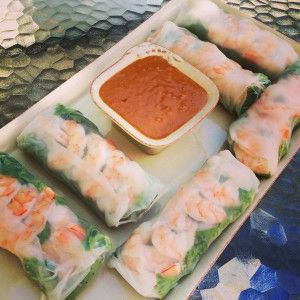 Finding The Weigh Vietnamese Shrimp Spring Rolls With Peanut