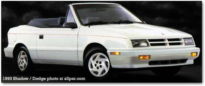 1993 Dodge Shadow Es Convertible