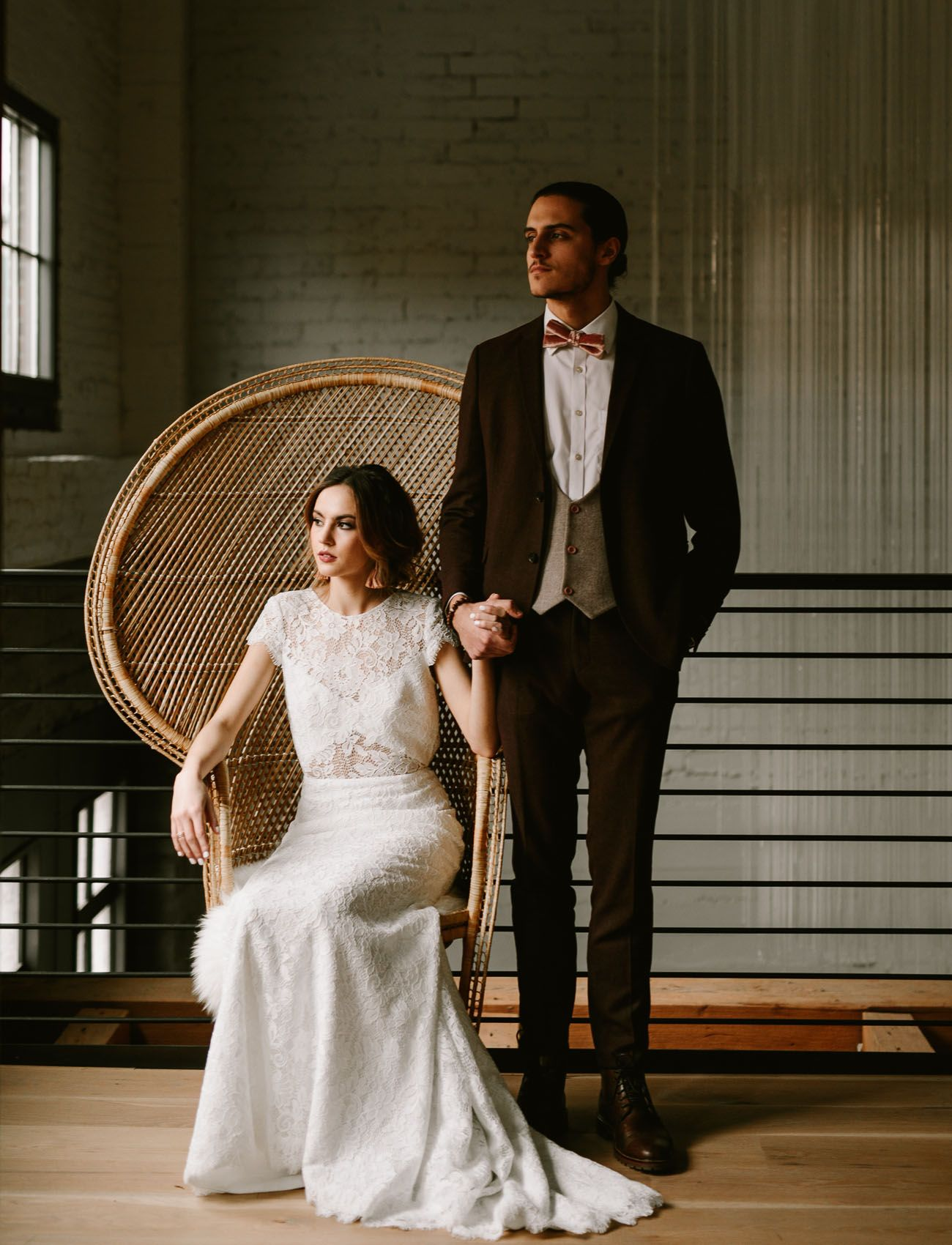 Leather wedding dress  Moody  Elegant Wedding Inspiration with Accents of Leather  Velvet
