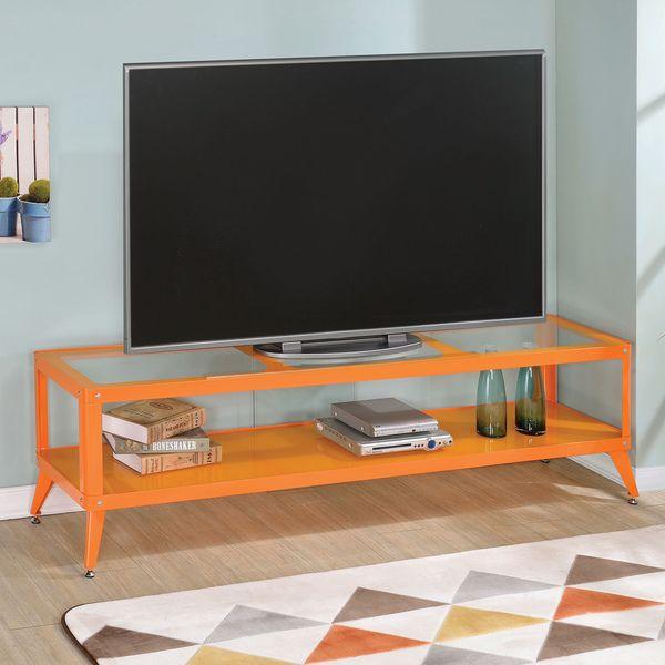 furniture of america linden modern glass top tv stand furniture