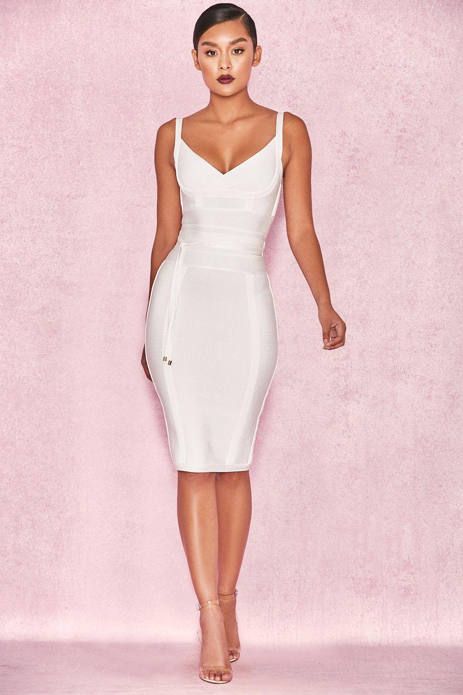 dfdd61946ea5 Clothing : Bandage Dresses : 'Belice' White Tie Waist Bandage Dress ...