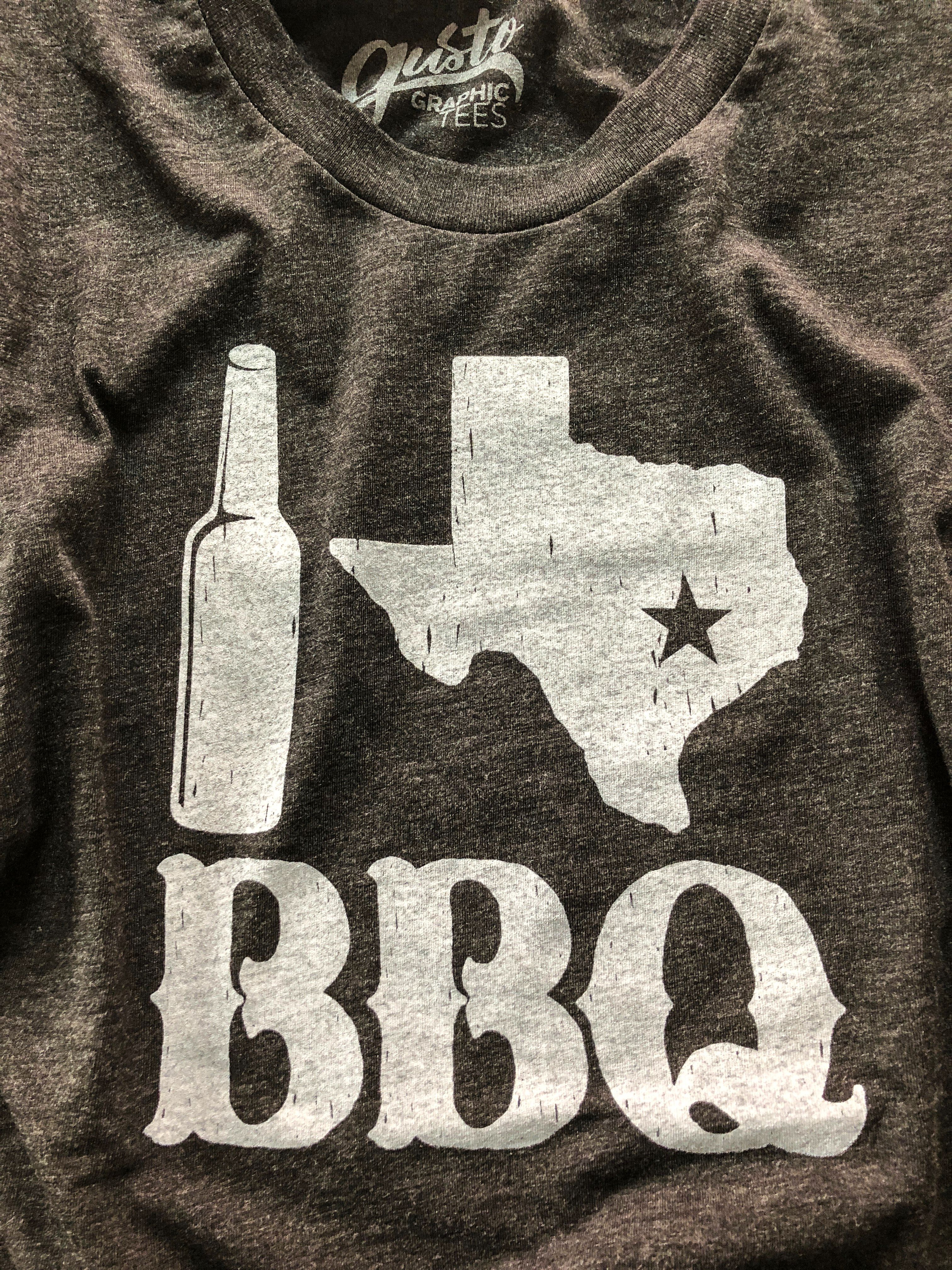 2330a9934cae I Love Texas BBQ Unisex Tee from Gusto Graphics Tees! This cute t-shirt is  for sale on Roots and Revival; 10% of every sale is donated to our current  ...