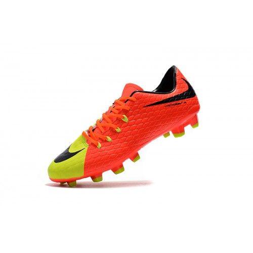 ... hombre 73965722  comprar botas de fútbol barato nike hypervenom iii fg  naranja amarillo verde botas de futbol online b98428c1999ba