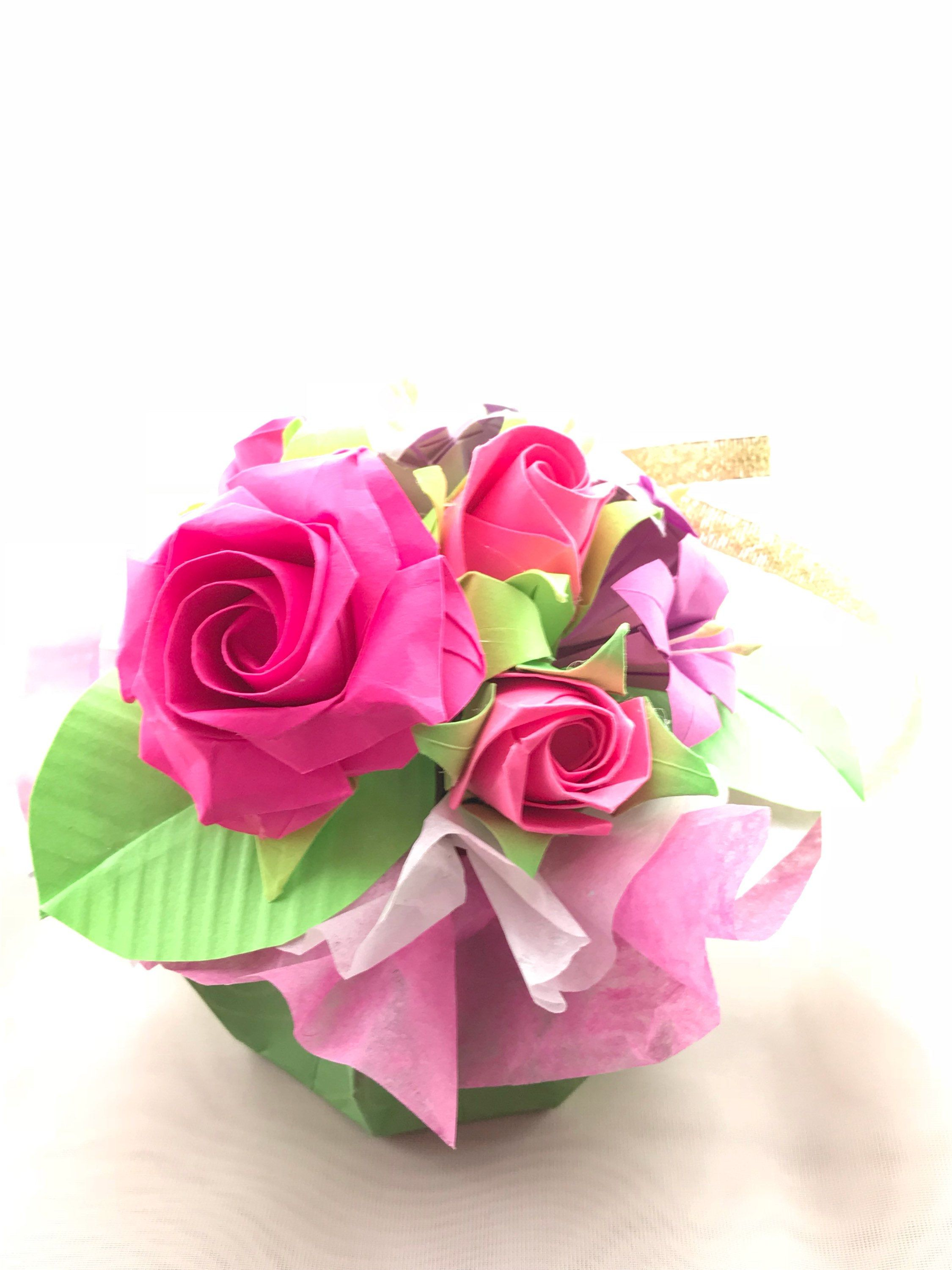 Happy Mothers Day Origami Flowers Bouquet Origami Flower Bouquet
