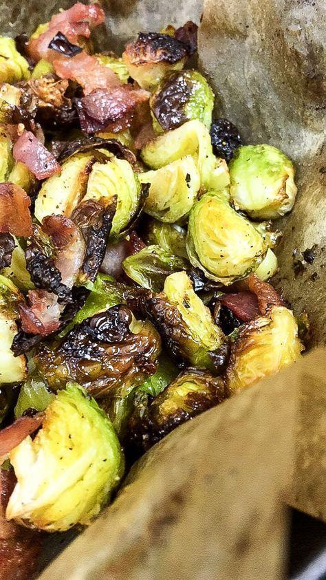 Der leckerste Rosenkohl im Ofen geröstet mit Bacon #saladeautomne