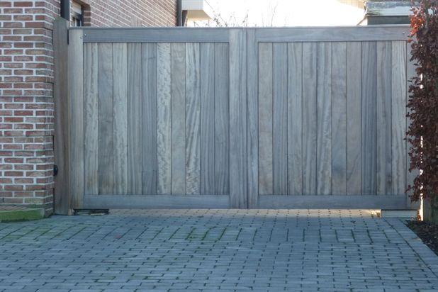 Houten tuinpoorten schrijnwerkerij asv uit geel poorten pinterest geel zoeken en google - Smeedijzeren pergola voor terras ...
