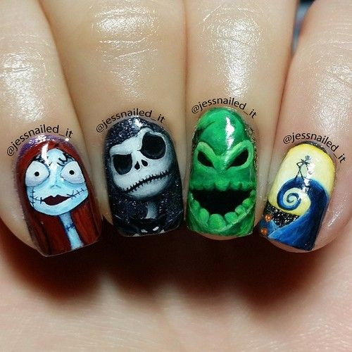 Pimpmynails The Nightmare Before Christmas Nightmare Before Christmas Nails Halloween Nail Designs Disney Nails