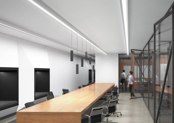 Element Merge Marries General Illumination Linear Led System To Low Voltage Track Lighting Product Lines Are Recessed Suspended Or Flush Mount