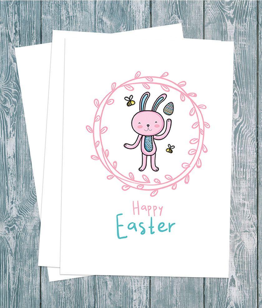 Easter card easter bunny cardeaster cards for kidseaster