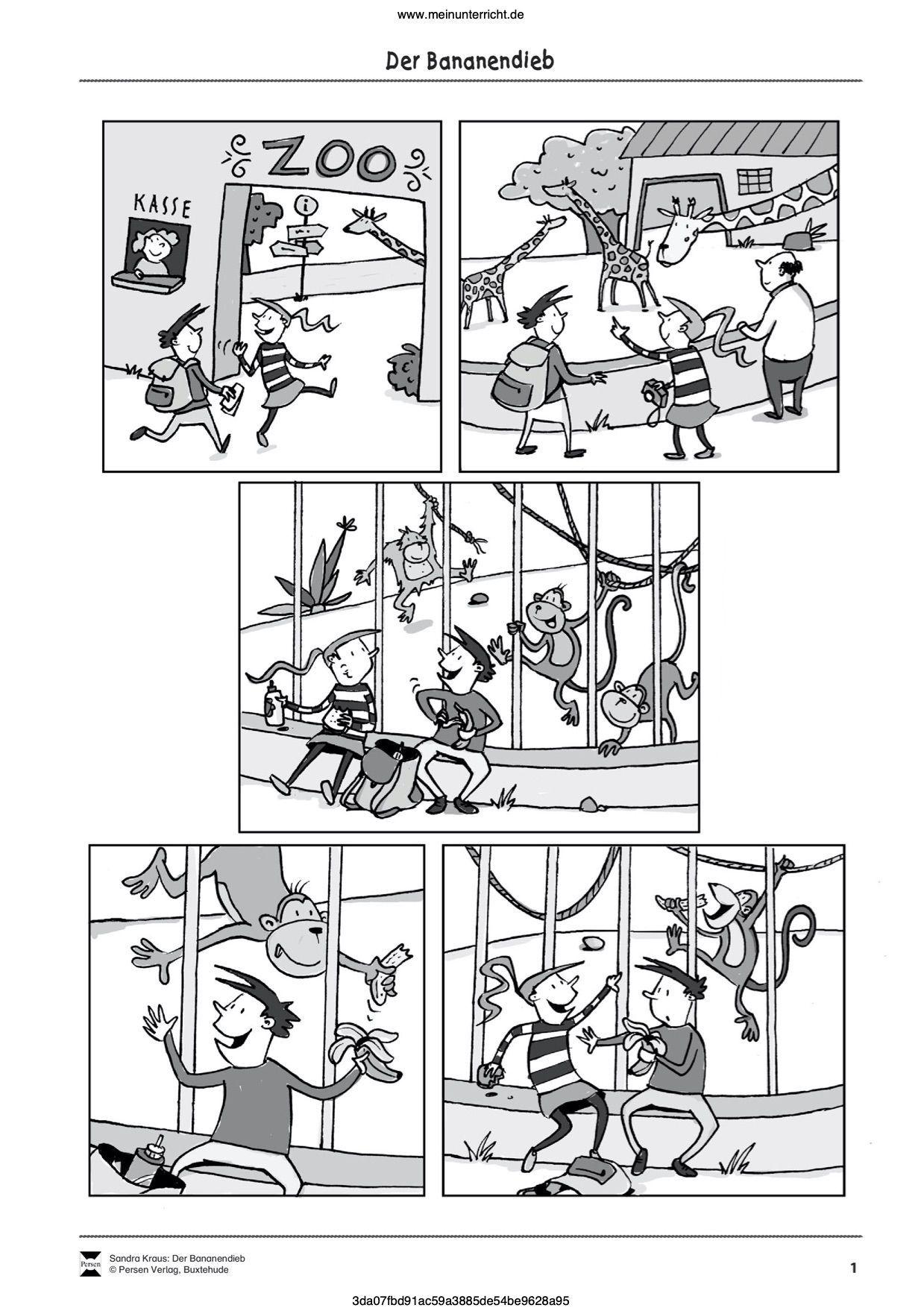 Bildergeschichte Klasse 20 Mit Musterlösung / Bildergeschichte ...
