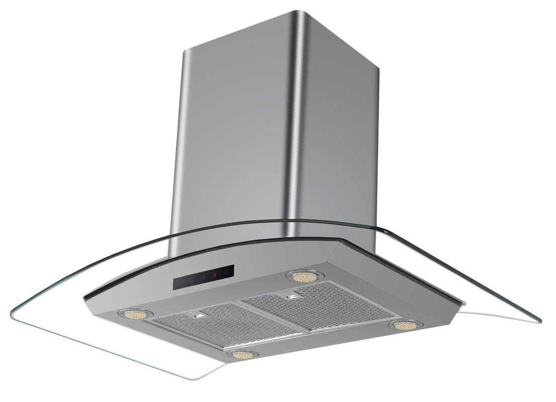 Kbc 30 476 Cfm Ducted Island Range Hood Reviews Wayfair Island Range Hood Recirculating Range Hood Kitchen Bath Collection