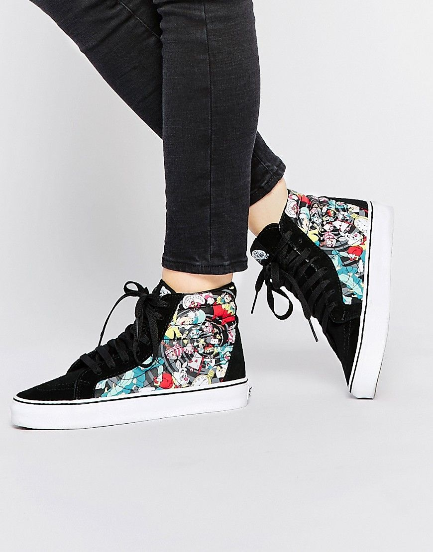 bd6a622824 Image 1 of Vans Disney Wonderland SK8-Hi Reisssue High Top Sneakers