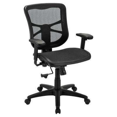 Alera Elusion Series Air Mesh Mid Back Swivel Tilt Chair Black Aleel42b18 Durable Alera Chair Swivel Rocker Recliner Chair