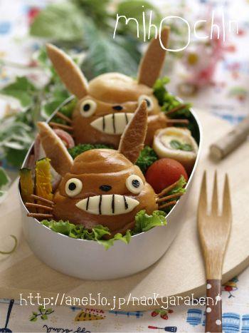 Totoro Roll Bread レシピ クリエイティブフード 食べ物のアイデア