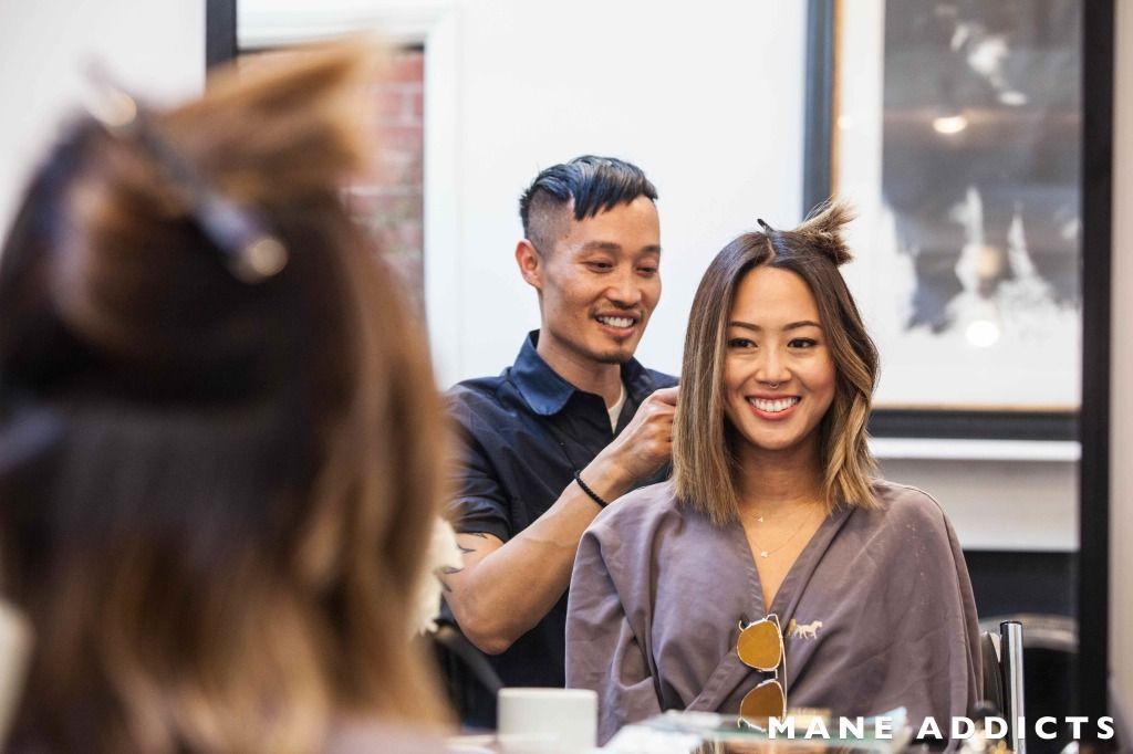 Aimee Song Song Of Style Blogger Bob Lob Short Hair Asian Hair Hair Transformation Ramirez Tran Salon Aimee Song Hair Short Hair Styles Asian Hair Lob