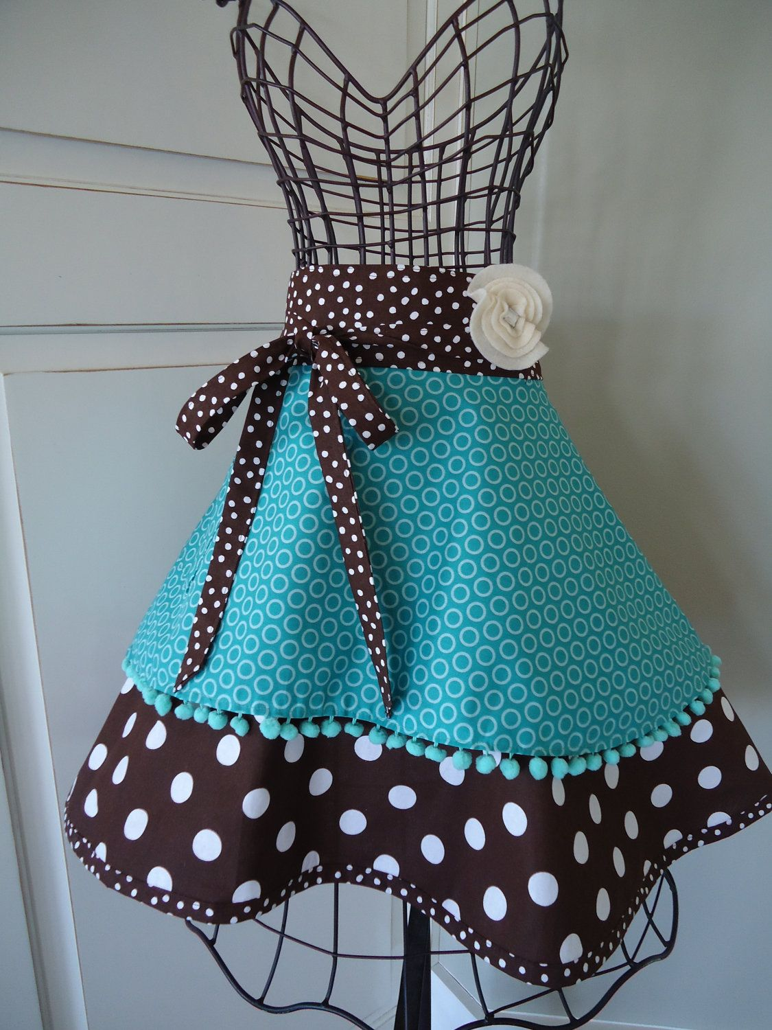 cute kitchen aprons pull out cabinets 4retrosisters womens half retro and vintage