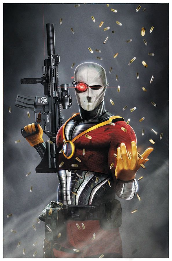 Deadshot is a hired assassin and the world's greatest marksman. Having been a super-villain and anti-hero, he'll commit any murder for the right price because of a notorious suicidal death wish. Despite this, he works very hard to protect his estranged ex-wife Susan Lawton and his daughter Zoe Lawton.