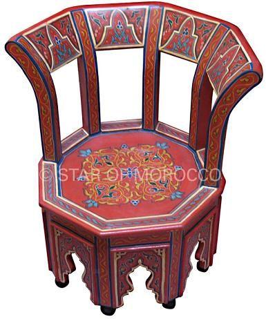 Sevilla red chair in 2019 moroccan furniture moroccan - Factory sofas sevilla ...
