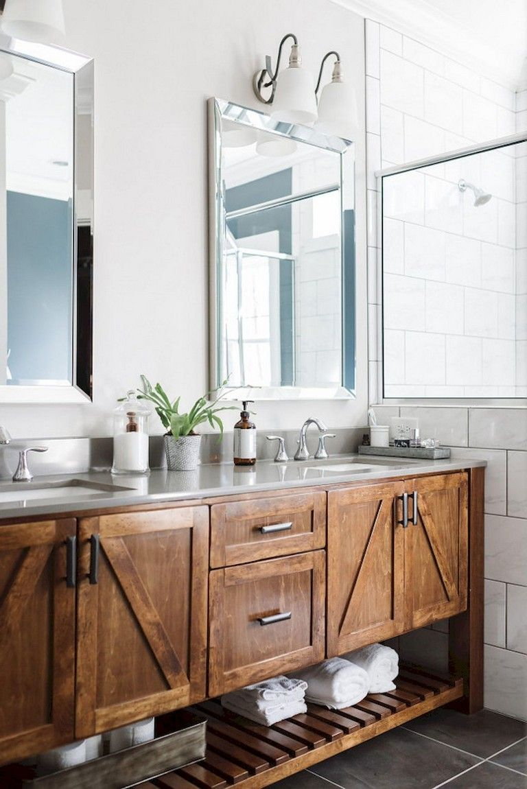 56 Amazing Rustic Master Bathroom Remodel Ideas Bathroom Vanity